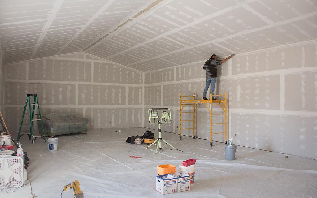 Building out interior walls